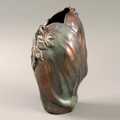 French Art Nouveau-Aubergine Vase