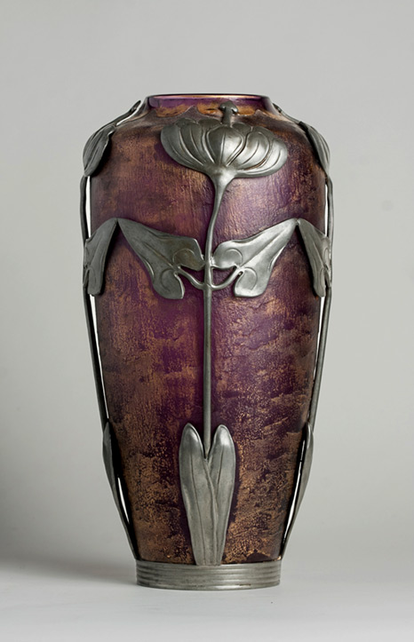 Acid Etched Art Nouveau Vase
