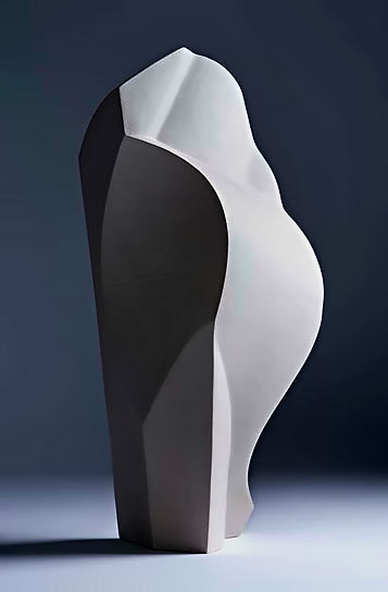 Ed-Bentley contemporary white ceramic sculpture
