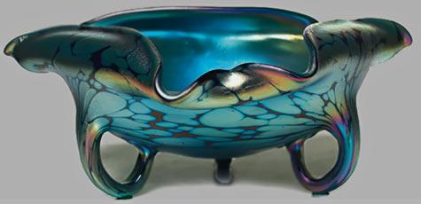 Fine Loetz vase organic form