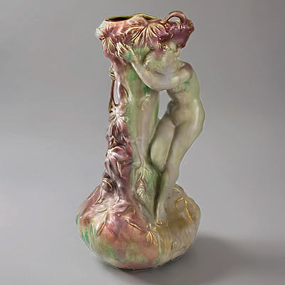 French-Art-Nouveau-Ceramic-vase
