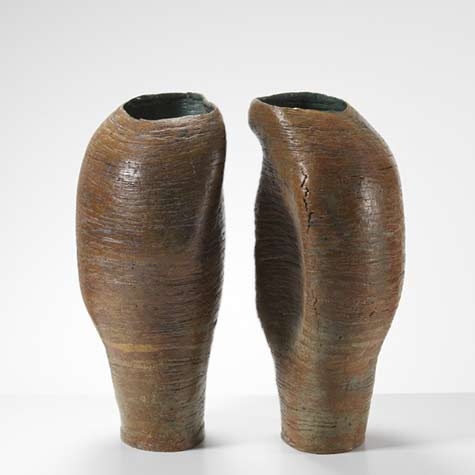 Pair-of-abstract-biomorphic ceramic-sculptures-Ruth-duckworth-0039-04