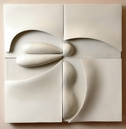 Ruth-Duckworth;-Porcelain,-1998. geometric wall art