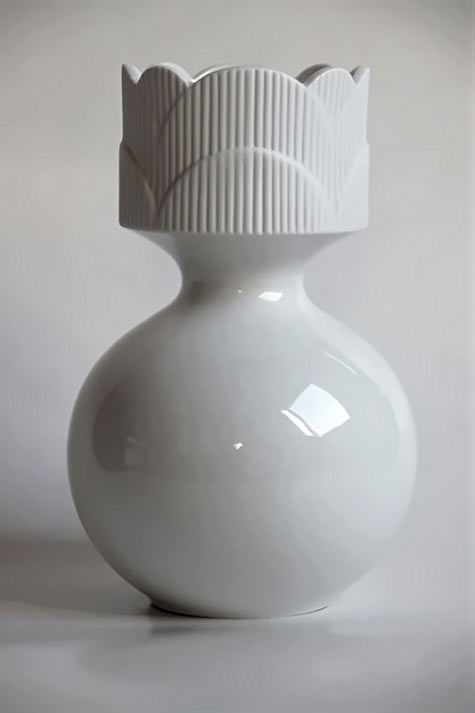 Vintage White Vase Heinrich
