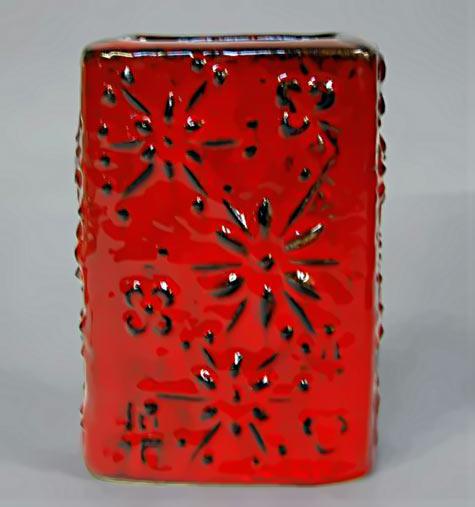 Red glaze Scheurich vase