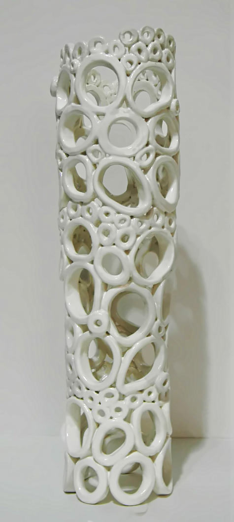 Regina Farrel ceramic sculpture in white