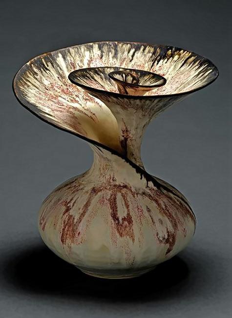 Ceramic spiral vase by Susan .Anderson