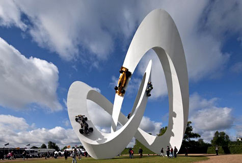 Gerry Judah monumental contemporary sculpture outdoor