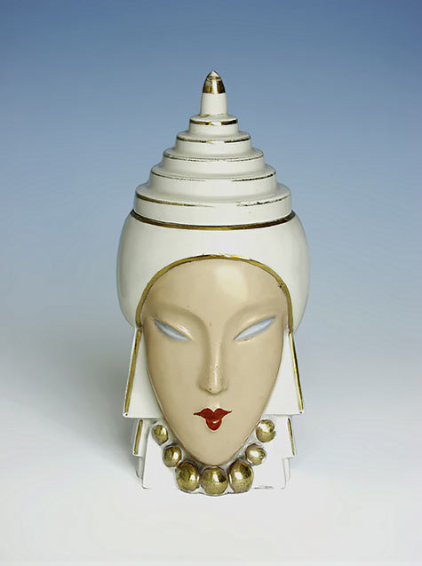 robj Art Deco female head