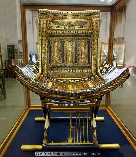 Tutankhamun Inlaid throne Egypt