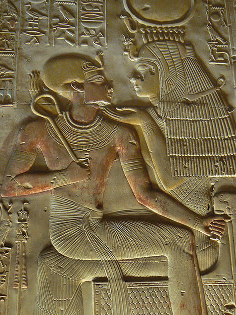 goddess Isis with Pharaoh Seti