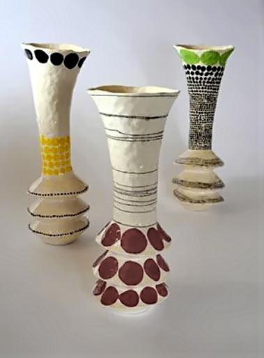 Andrew Ludick three whimsical vases