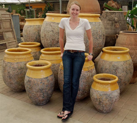 Audrey with french pots