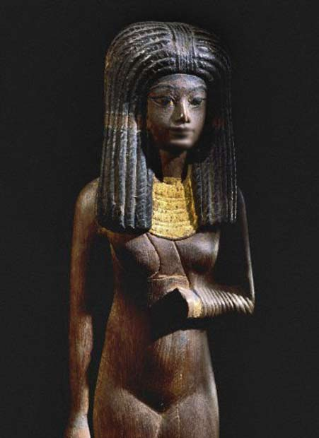 sculpture of Egyptian princess