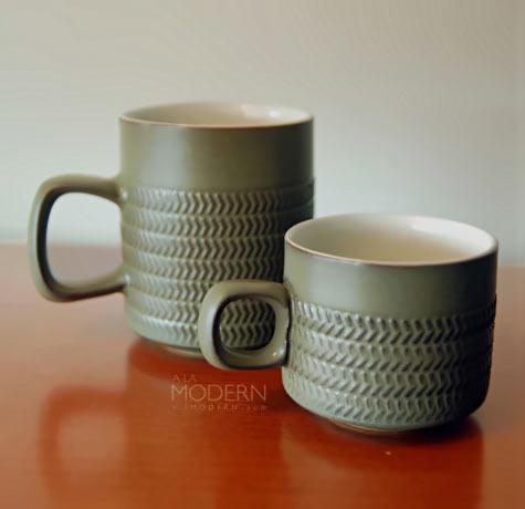 Denby Chevron mugs