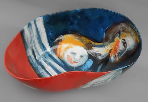 JITKA PALMER dish - Czech ceramic artist