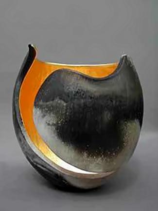 Kay Lynn Sattler carved ceramic vessel