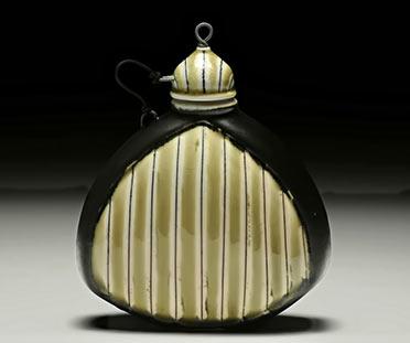 Ceramicist Lorna Meaden whisky flask