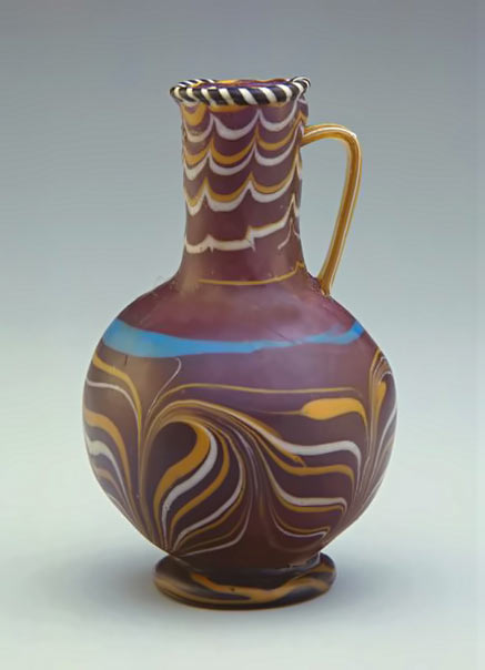 Egypt New-Kingdom (Dynasty-18) glassware pitcher