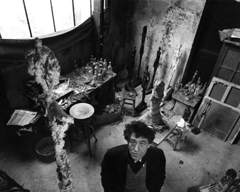 Robert Doisneau - Shop - Alberto Giacometti in his studio