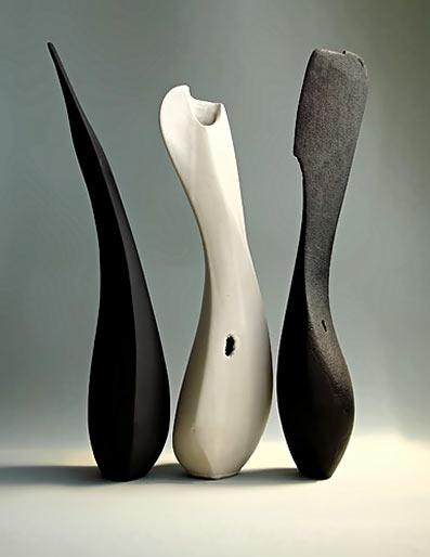 Sophie-Elizabeth Thompson three ceramic sculptures