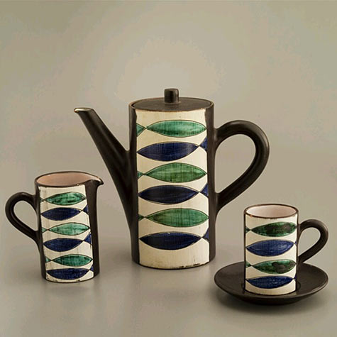 Switzerland coffee set by Friedrich Haas