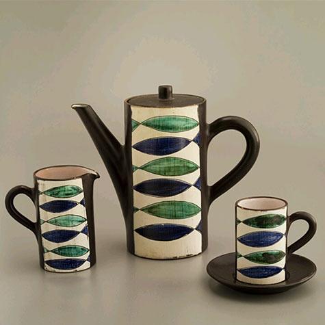 Switzerland coffee set by Friedrich Haas