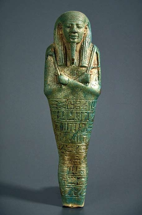 Funery Oushebti - XXVIth dynasty (Psammetic II) Egyptian earthenware