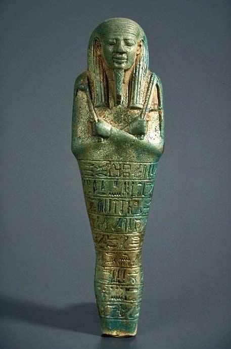 Funery Oushebti - XXVIth dynasty (Psammetic II) Egyptian earthenware