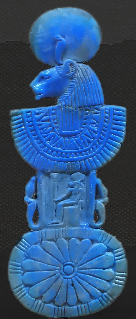 Sekhmet lioness Goddess  blue neck piece