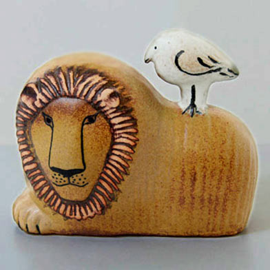 Lisa-Larson-Lion and Bird