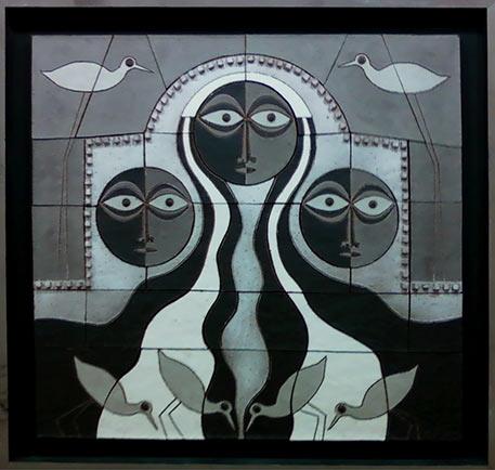 Clyde Burt Tiled Wall Panel
