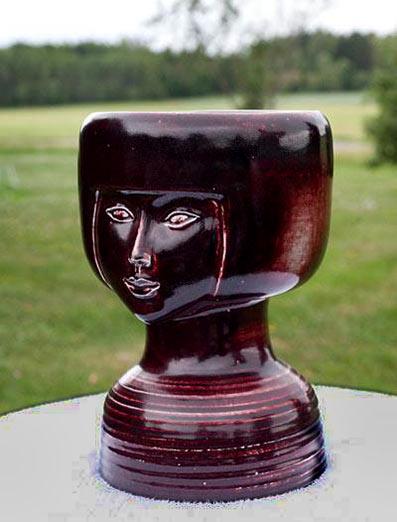Lisa Larson ceramic head sculpture