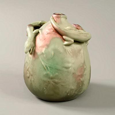 Art Nouveau vase designed by Ernest Bussière
