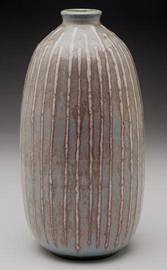 Clyde Burt vase, stoneware