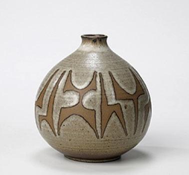 Clyde Burt pottery vase