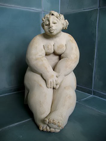 Di Conway clay figure sculpture