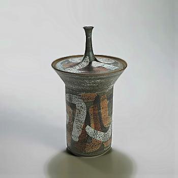 Clyde Burt Glazed stoneware vessel with lid