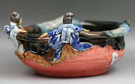 Sumida Gawa Ryosai Porcelain Bowl
