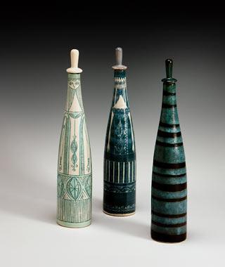 Jerome and Evelyn Ackerman Ceramic Bottles