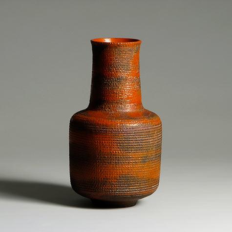 Gertrud & Otto Natzler Tomato Red Vase
