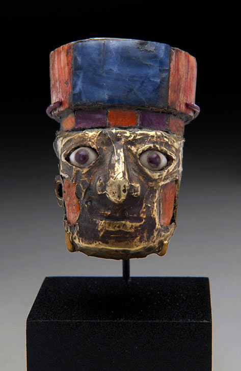 Nazca Huari Golden Miniature Head