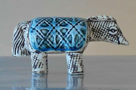 Lisa Larson porcelain armadillo