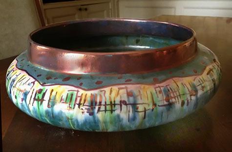Natzler modernist bowl