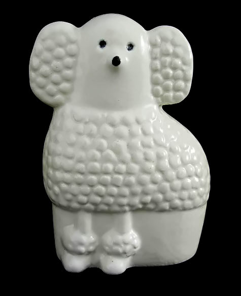 White Poodle Lisa Larson Ceramic