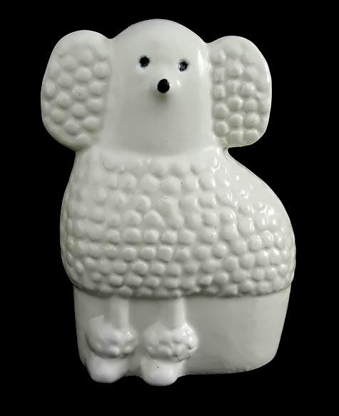 White Poodle Lisa Larson Ceramic