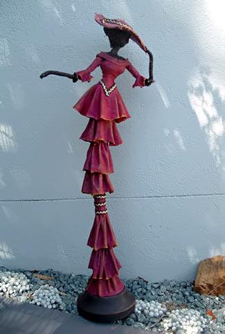 Magenta sculpture
