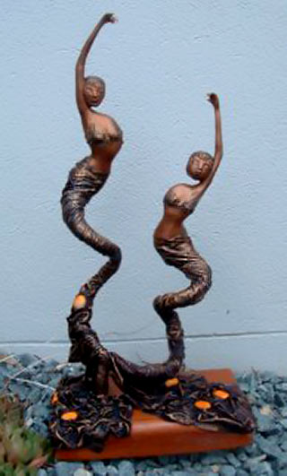 Dancer sculptures