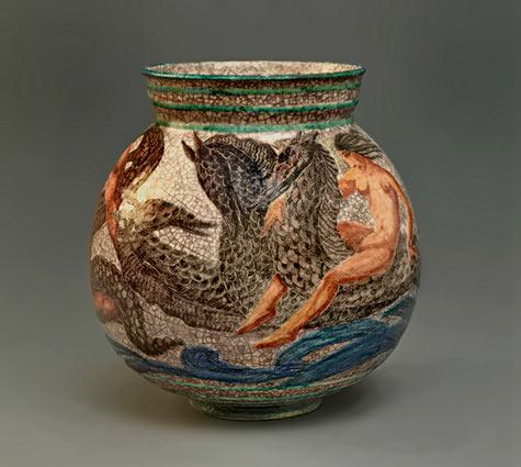 Jean MAYODON Earthenware Vase Circa 1935