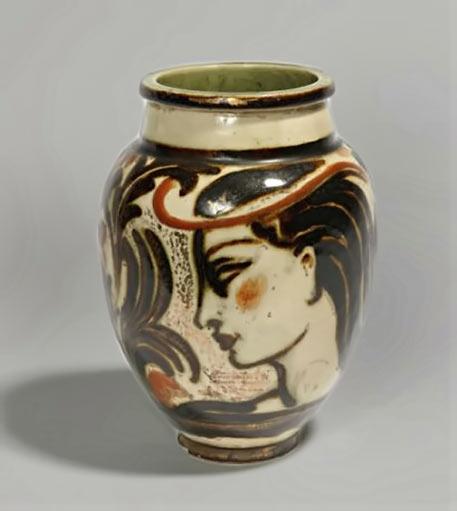 Glazed ceramic vase by Rene Buthaud